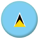 St. Lucia Country Flag 25mm Flat Back